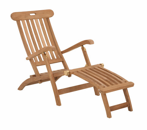 Douglas Nance Indonesian Teak Folding Steamer Lounge Chair (Set of Two) - [price] | The Adirondack Market