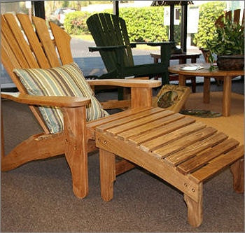 Douglas Nance Indonesian Teak Adirondack Footrest — In stock, order now!