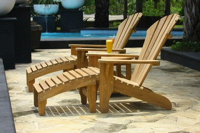 Douglas Nance Indonesian Teak Adirondack Footrest - [price] | The Adirondack Market