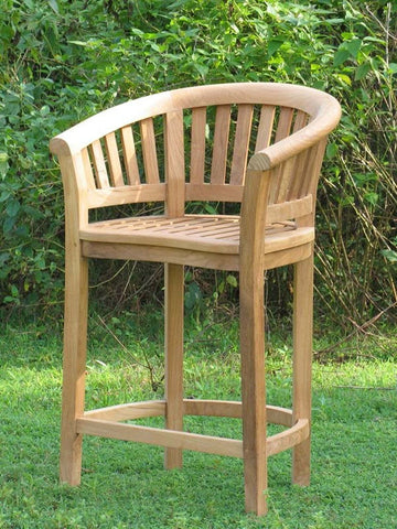 Douglas Nance Serenity Indonesian Teak Bar Chair - Set of Two - [price] | The Adirondack Market