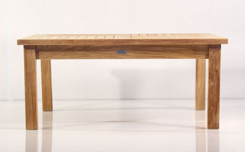 "Douglas Nance Classic 42"" Square Indonesian Teak Conversation Table - [price] 