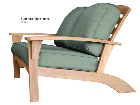 Douglas Nance Augusta Deep Seating Teak Love Seat with Sunbrella Cushions - [price] | The Adirondack Market