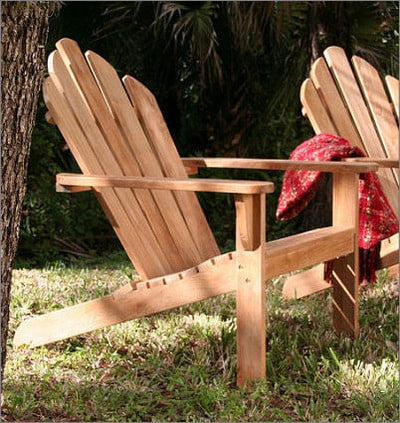 Douglas Nance Lakeside Teak Adirondack Chair - [price] | The Adirondack Market