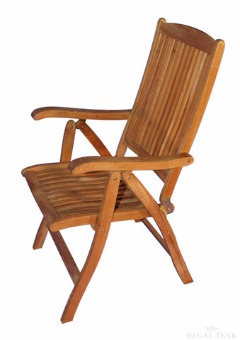 Regal Teak Salisbury Teak Reclining Chair – Two Chairs - [price] | The Adirondack Market