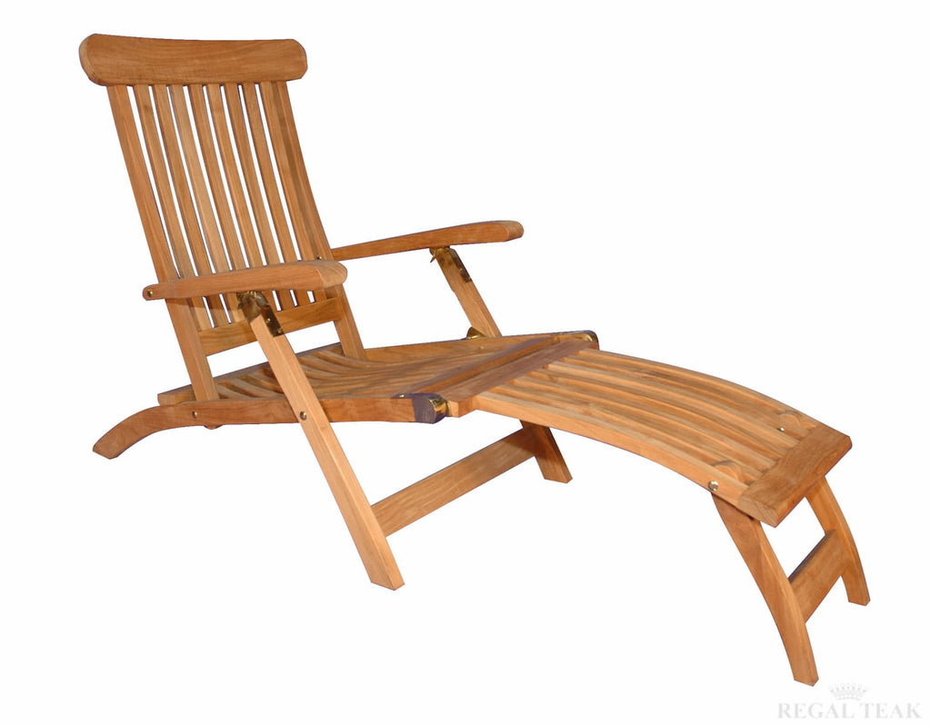 Groovy Regal Teak Five Position Teak Folding Steamer Chair Short Links Chair Design For Home Short Linksinfo