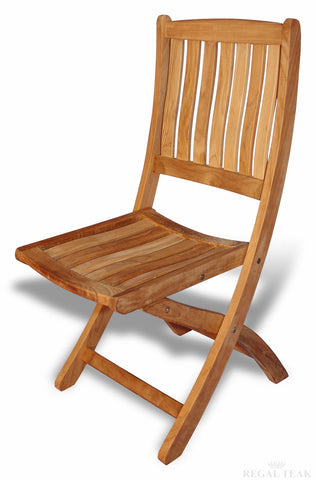 Regal Teak Providence Teak Chair - No Arms – Set of Two - [price] | The Adirondack Market