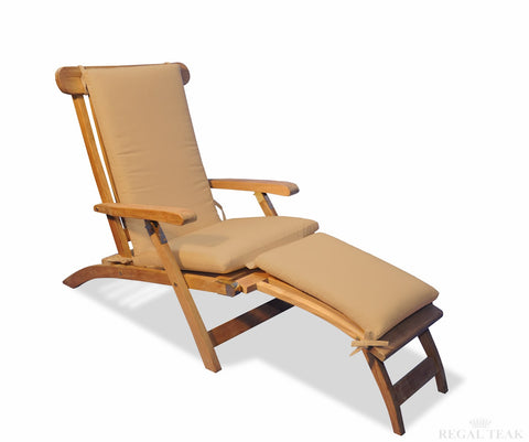 Regal Teak Cushions for Steamer Chair - [price] | The Adirondack Market