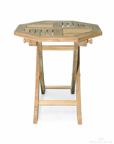 Regal Teak Small Octagonal Teak Folding Table