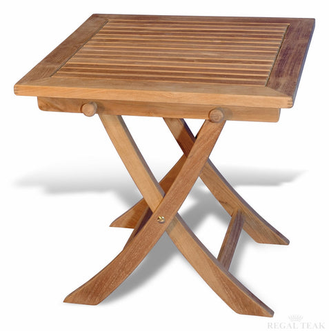 Regal Teak Small Square Folding Table - [price] | The Adirondack Market