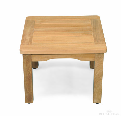 Regal Teak Square Mission Side Table - [price] | The Adirondack Market