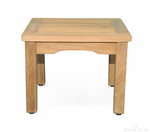 Regal Teak Square Mission Side Table