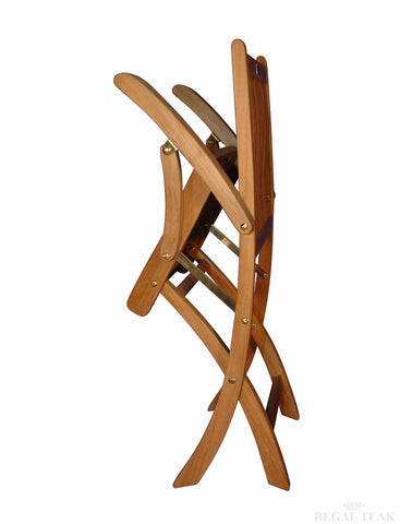 Regal Teak Rockport Teak Chair with Arms – Set of Two Chairs - [price] | The Adirondack Market