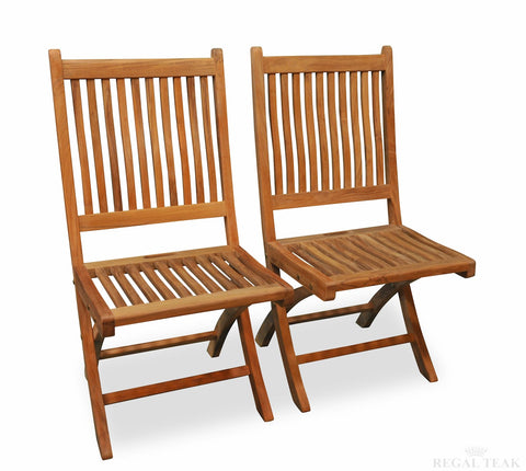 ... Regal Teak Rockport Teak Chair No Arms U2013 Set Of Two Chairs