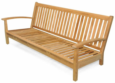 Regal Teak Deep Seating Teak Sofa with Sunbrella Cushions - [price] | The Adirondack Market