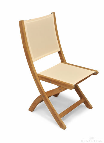 Regal Teak Providence Sling-Styled Teak Chair, No Arms – Set of Two Chairs - [price] | The Adirondack Market