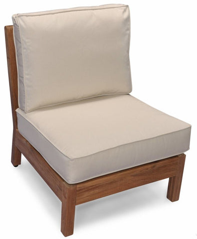 Regal Teak Deep Seating Teak Sectional with Sunbrella Cushions - [price] | The Adirondack Market