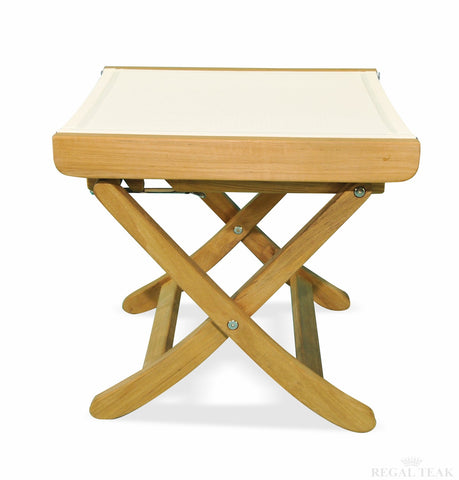 Regal Teak Indonesian Teak Batyline Folding Footstool - [price] | The Adirondack Market