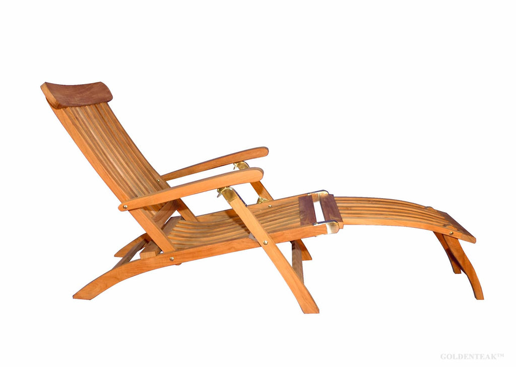 ... Regal Teak Five Position Teak Folding Steamer Chair   [price] | The  Adirondack