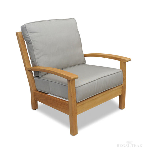 Regal Teak Deep Seating Teak Club Chair – Single Chair - [price] | The Adirondack Market