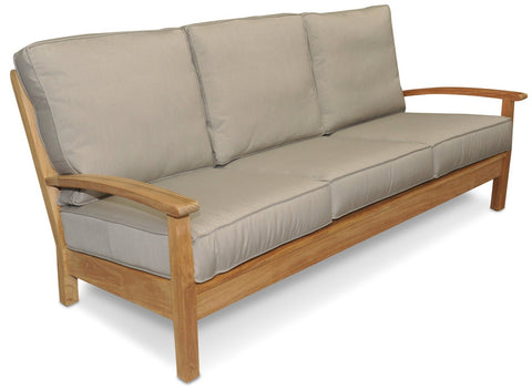 Regal Teak Deep Seating Teak Sofa with Sunbrella Cushions