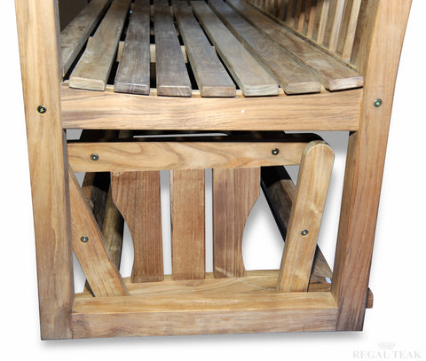 Regal Teak Porch Glider - [price] | The Adirondack Market