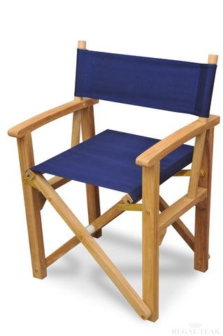 Regal Teak Director's Chair – Batyline Mesh Back - [price] | The Adirondack Market