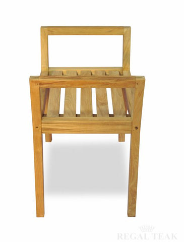 Regal Teak Shower Bench/Chair with Arms - [price] | The Adirondack Market
