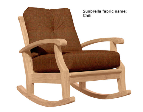 Douglas Nance Cayman Deep Seating Teak Club Rocker - [price] | The Adirondack Market