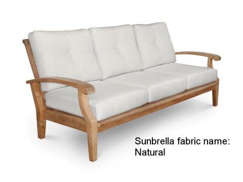 Douglas Nance Cayman Deep Seating Teak Sofa with Sunbrella Cushions - [price] | The Adirondack Market