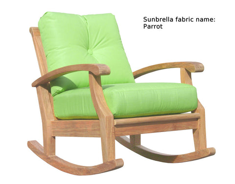 Douglas Nance Cayman Deep Seating Teak Club Rocker