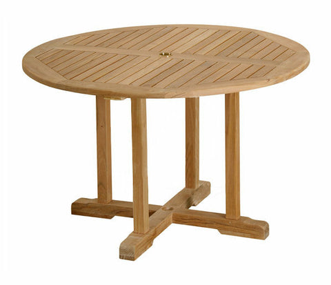 "Douglas Nance Classic 48"" Round Indonesian Teak Dining Table - [price] 