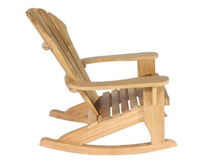 Douglas Nance Atlantic Indonesian Teak Adirondack Rocker - [price] | The Adirondack Market