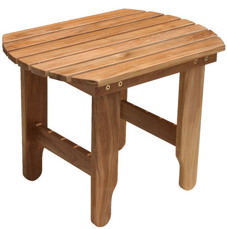 Douglas Nance Indonesian Teak Adirondack Side Table - [price] | The Adirondack Market