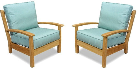 Regal Teak Deep Seating Teak Club Chair – Set of 2 Chairs - [price] | The Adirondack Market