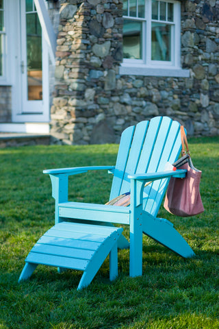 Coastline Casual Harbor View Adirondack Chair / Foot Stool Set — Extended Delivery Times — Please call (970) 235-1495 for estimated delivery dates