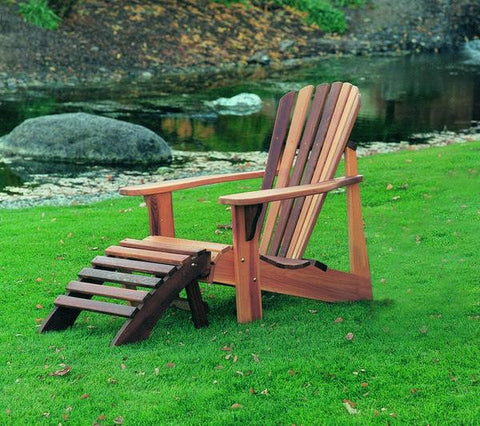 Wood Country Cedar T&L Adirondack Foot Rest - [price] | The Adirondack Market