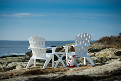 Coastline Casual Harbor View 3-Piece Set (Adirondack Chair, Foot Stool, Side Table) - Order Now for early December Delivery