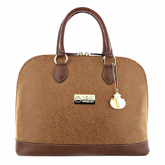 Bowler bag in Cognac and Brown