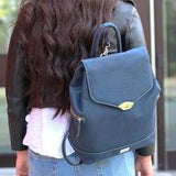 Rok Cork  navy blue backpack