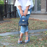 Rok Cork mini backpack in denim blue