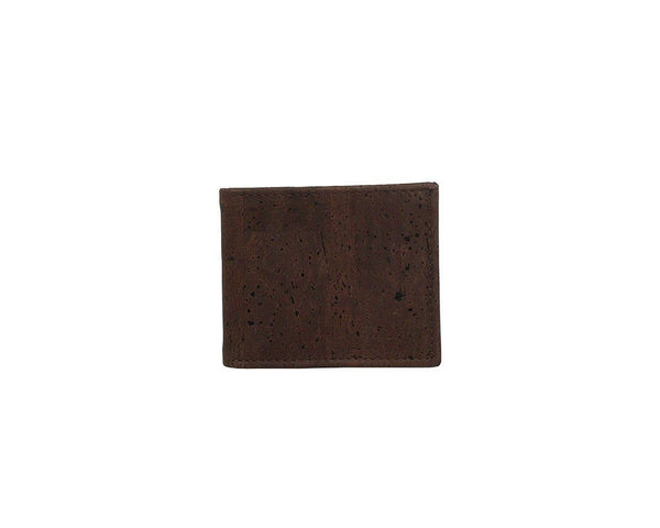 Cork Card Wallet in Brown