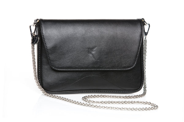 Faux leather premium quality clutch in black