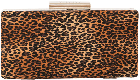 Elegant Box Clutch in Leopard print