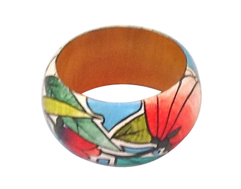 Mural hand-painted bangle