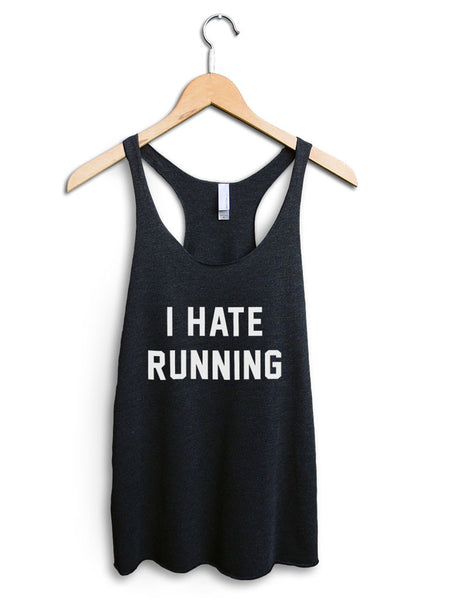 I Hate Running Women's Black Tank Top