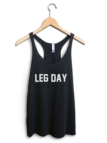 Leg Day Women's Black Tank Top