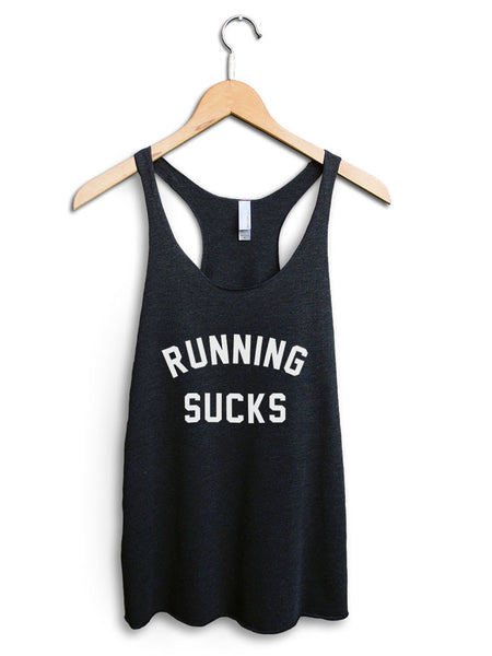 Running Sucks Women's Black Tank Top