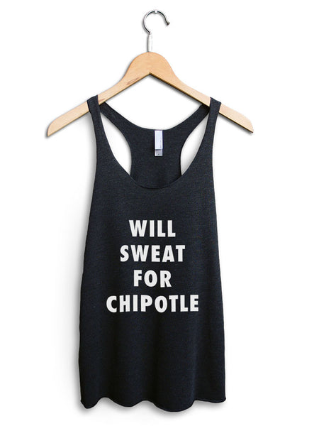 Will Sweat For Chipotle Women's Black Tank Top
