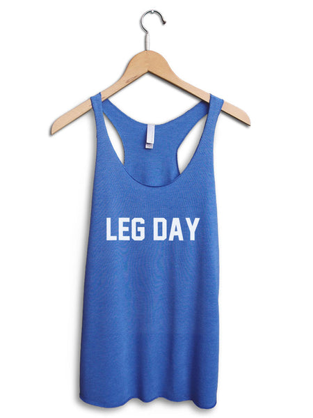 Leg Day Women's Blue Tank Top