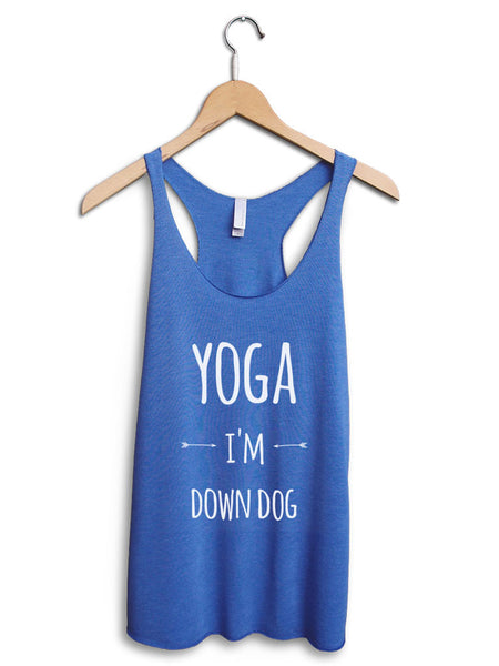 Yoga I'm Down Dog Women's Blue Tank Top